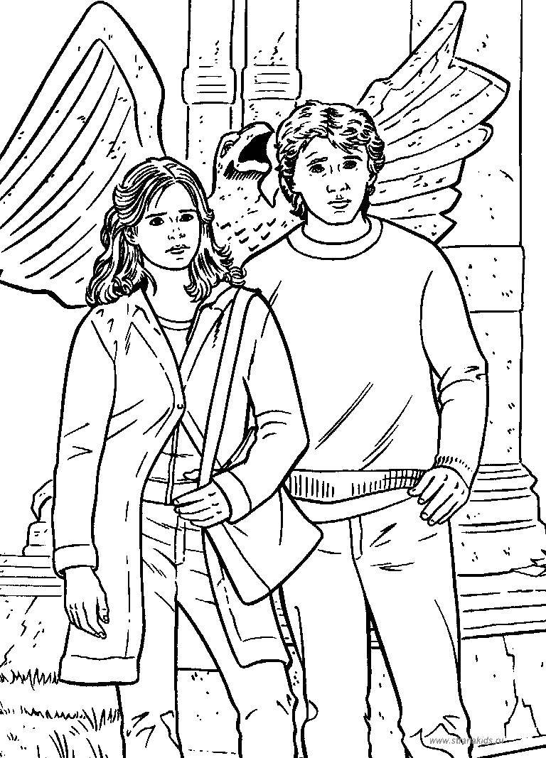 Online Coloring Pages Coloring Page Hermione And Ron Harry Potter