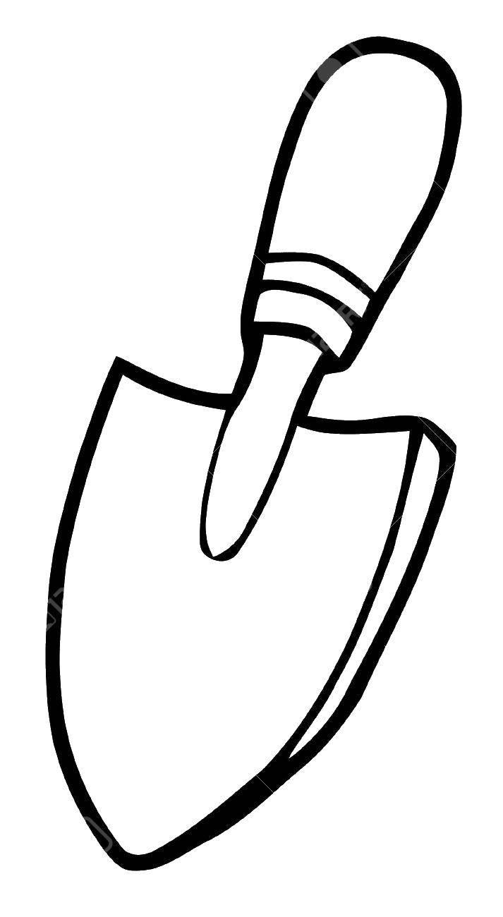 раскраски раскраска лопата предметы раскраски