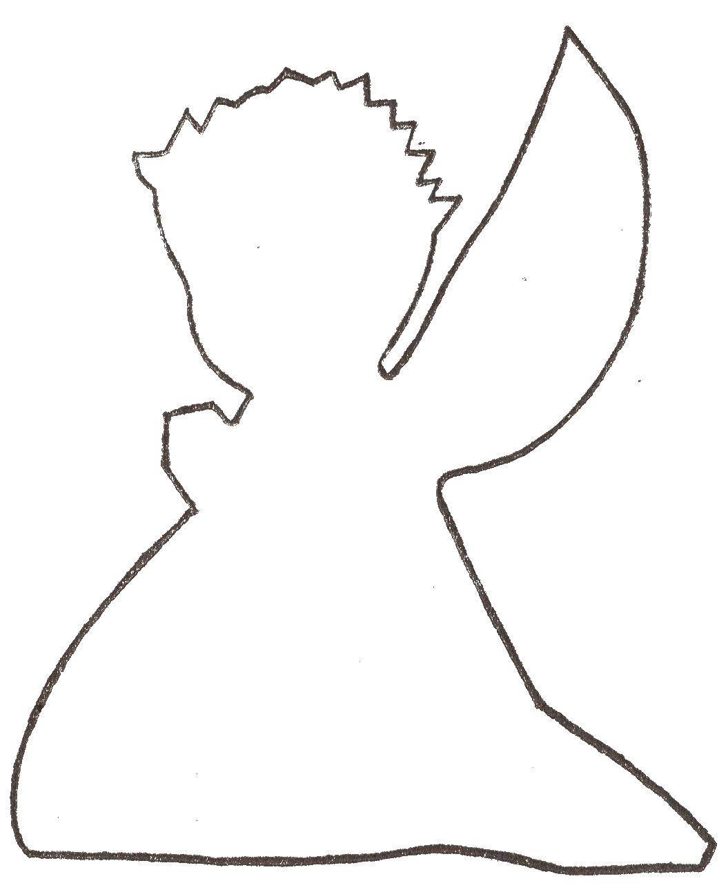 Раскраска Контуры ангела для вырезания Скачать Животные, собака.  Распечатать ,Животные,