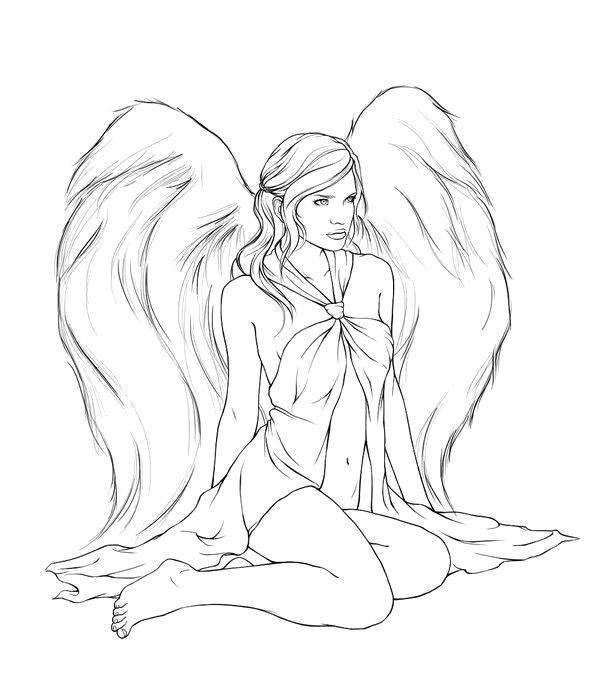 Раскраска ангелы Скачать ,вампиры, вампирши,.  Распечатать