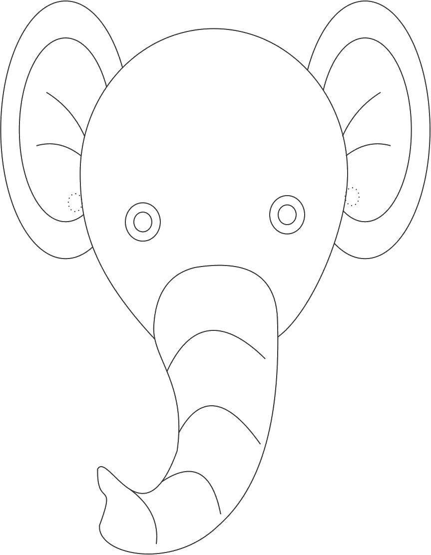Раскраска контуры слона для вырезания Скачать снежинка для вырезания.  Распечатать ,Контур снежинки,