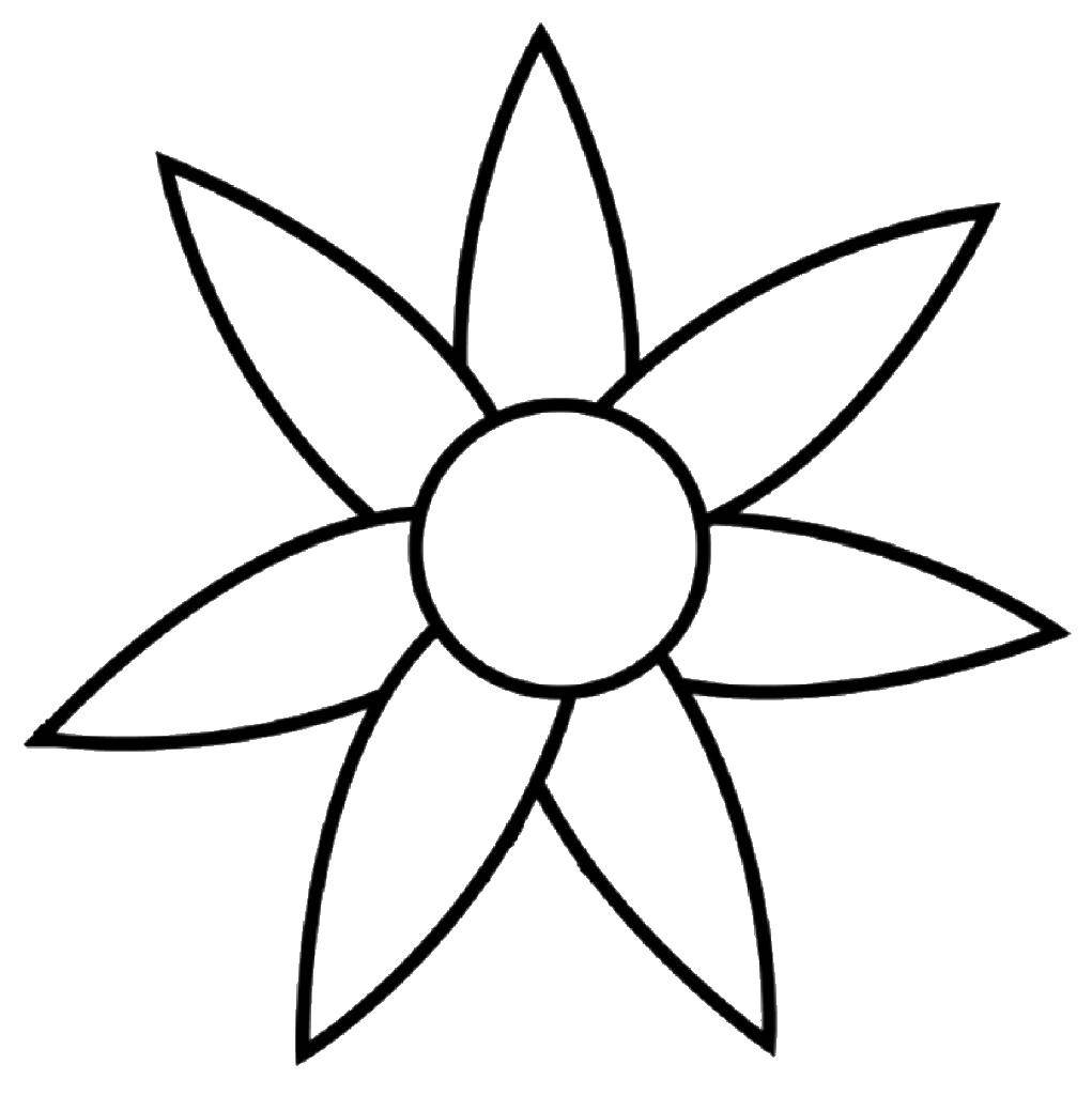 Раскраска Контуры цветка для вырезания Скачать Рептилия, лягушка.  Распечатать ,Раскраски для малышей,