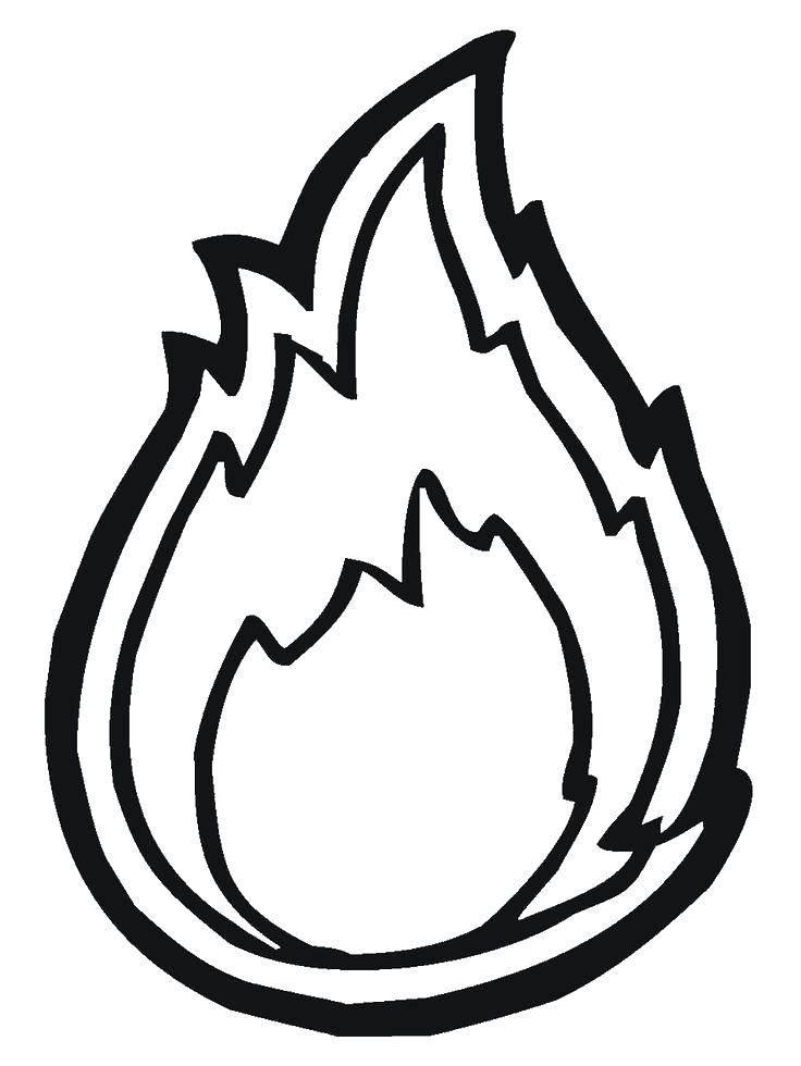 Раскраска Огонь Скачать Пожар, огонь.  Распечатать ,Огонь,