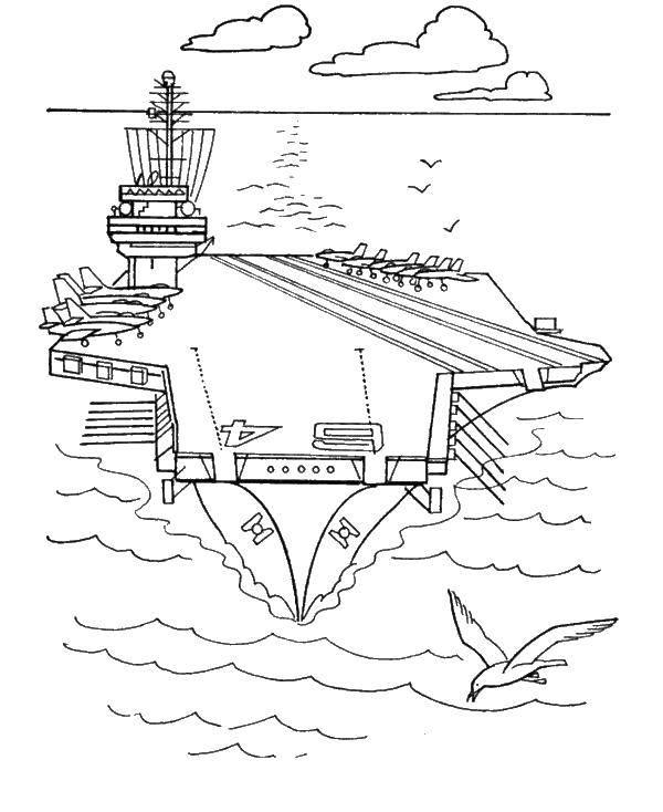 раскраски раскраска военный корабль корабли раскраски детские