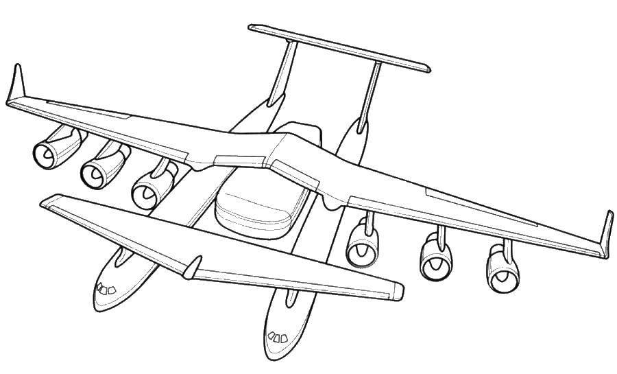 Раскраска самолеты Скачать .  Распечатать