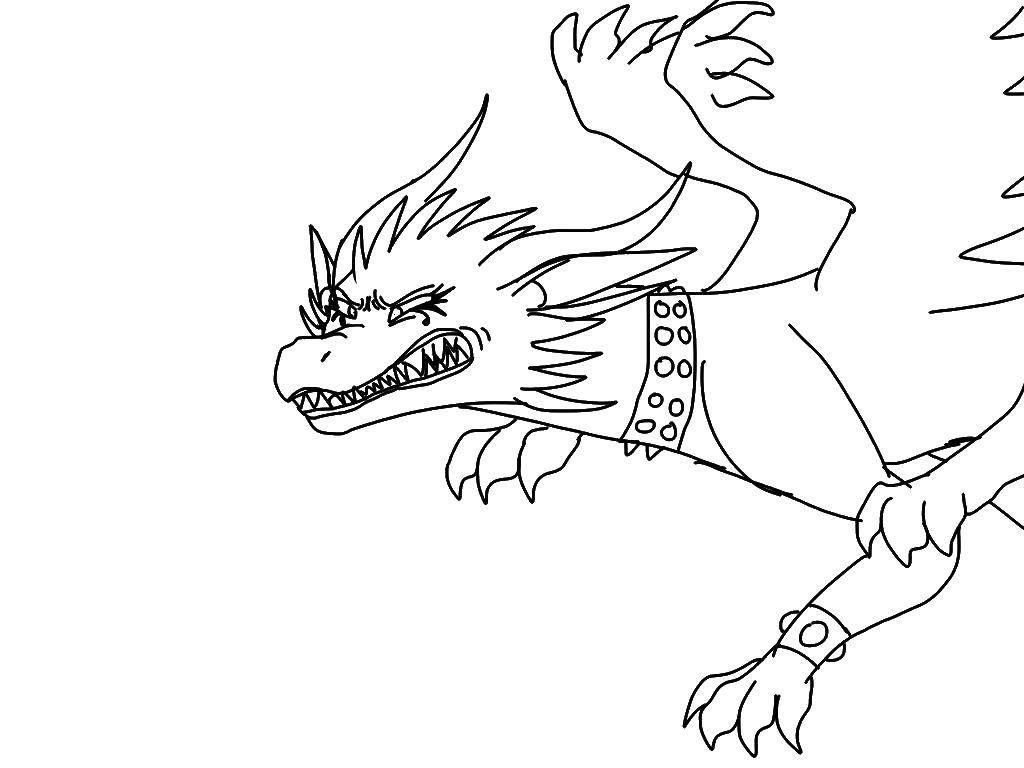 Раскраска Чудовище Скачать монстр, чудовище.  Распечатать ,Монстры,