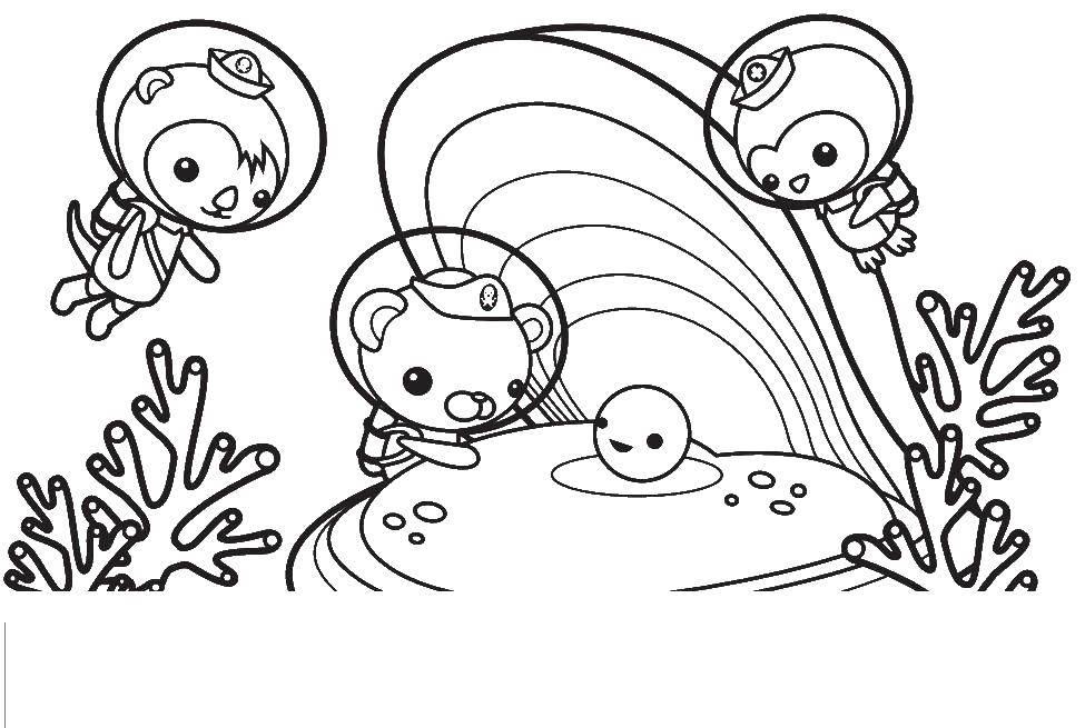 Раскраска Октонавты Скачать мультики , Октонавты.  Распечатать ,мультики,