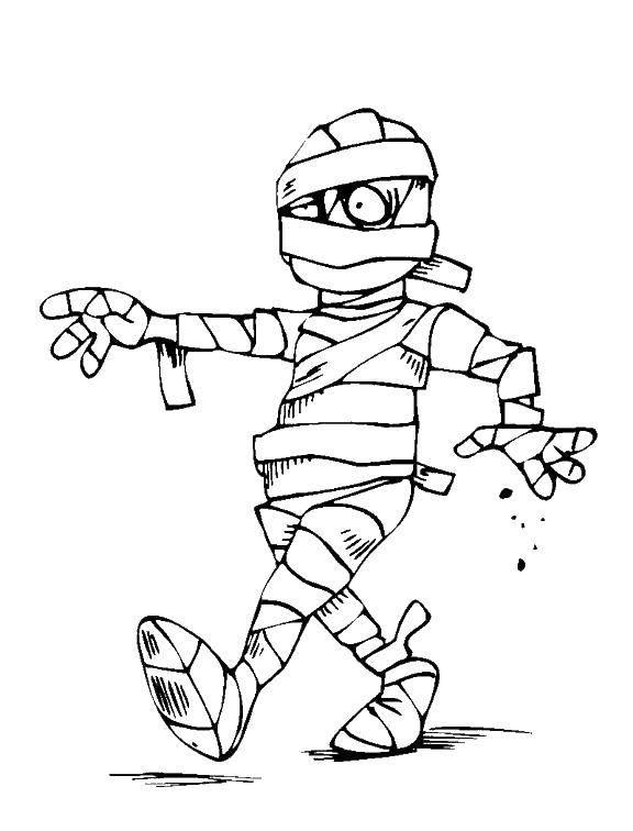 раскраски раскраска мумия идет раскраски
