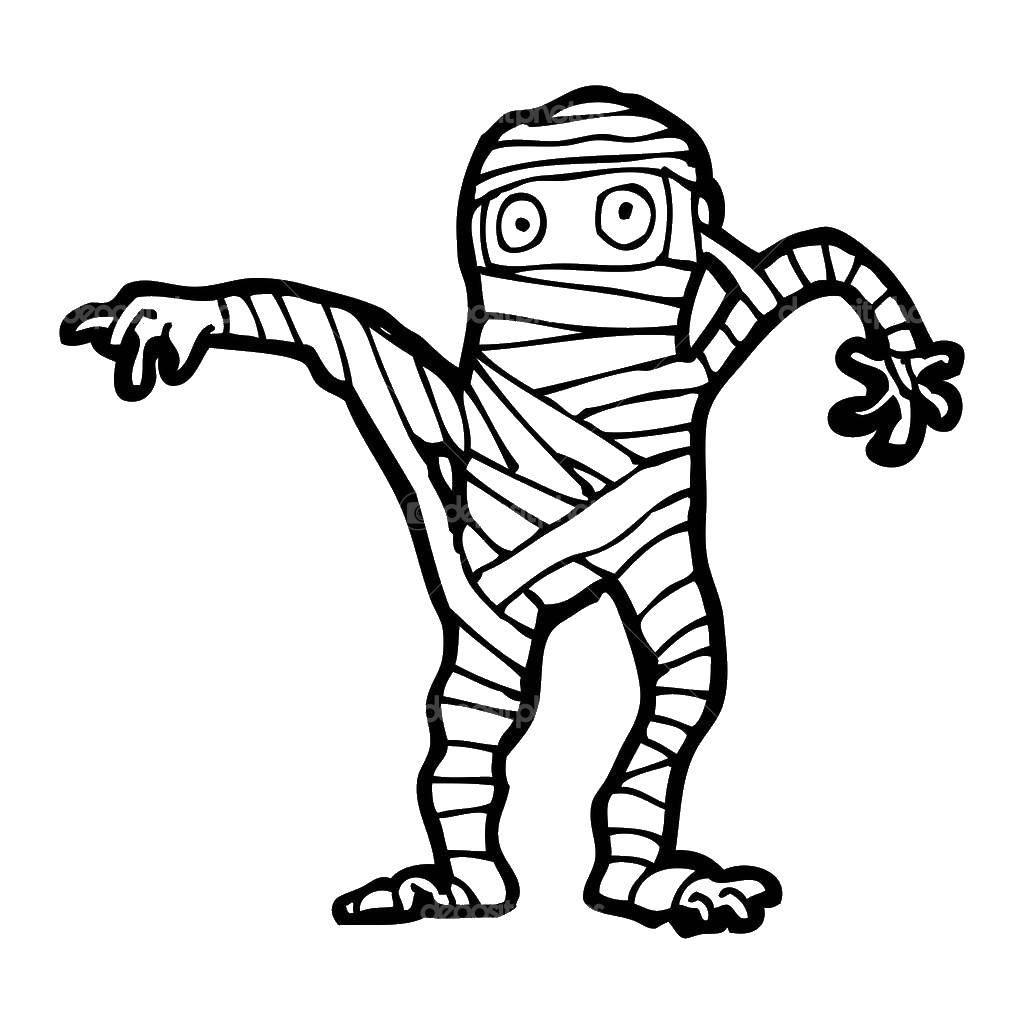 раскраски бинтах раскраска мумия в бинтах пугает людей мумия
