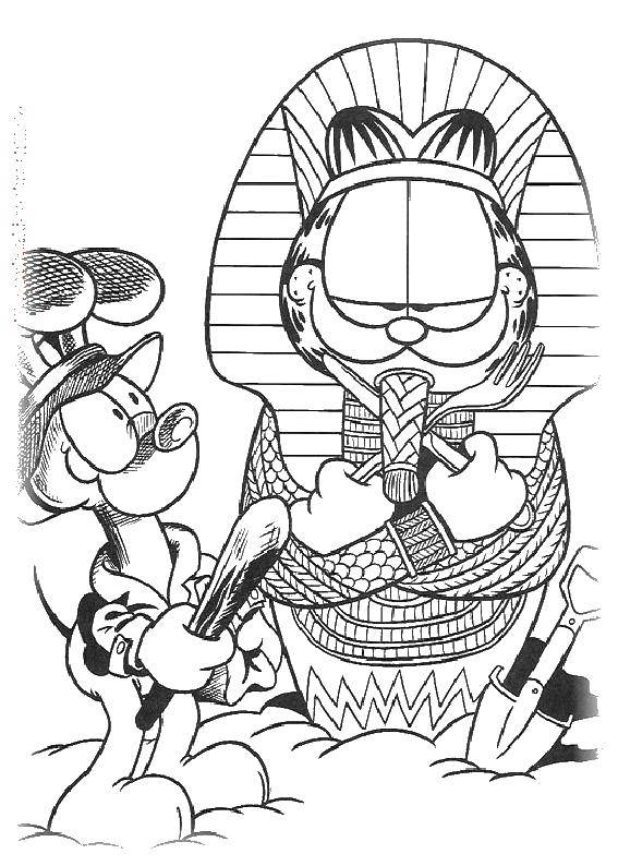 Online Coloring Pages Coloring Page Cat Pharaoh Coloring Download