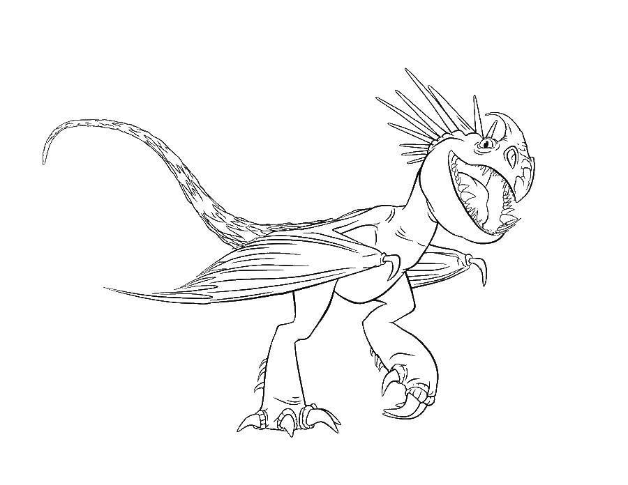 Раскраска динозавр Скачать ,Деньги,.  Распечатать