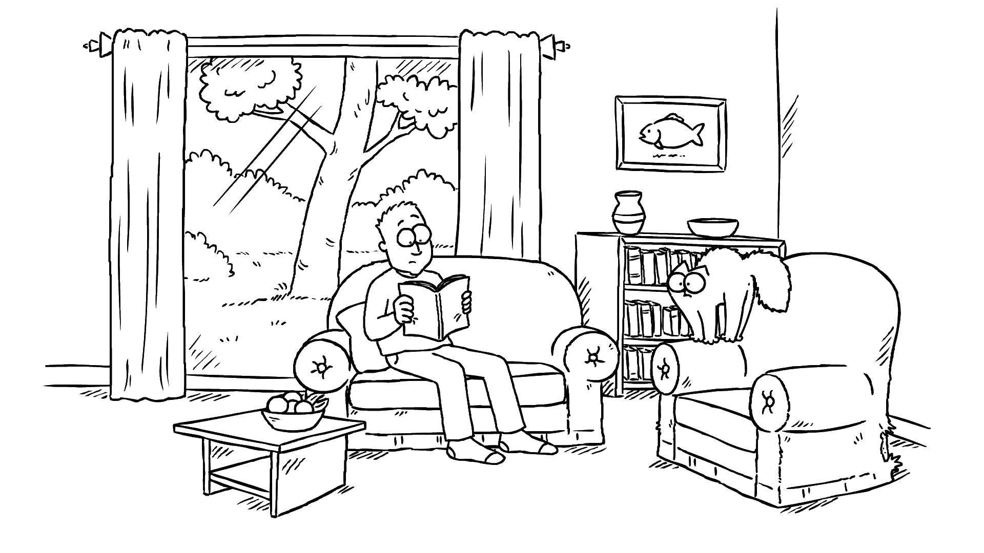 Раскраска кот саймона Скачать майнкрафт, .  Распечатать ,майнкрафт,