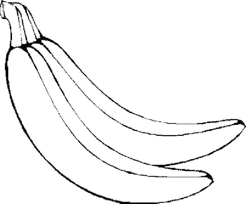 Название: Раскраска Банан. Категория: банан. Теги: фрукты, банан.
