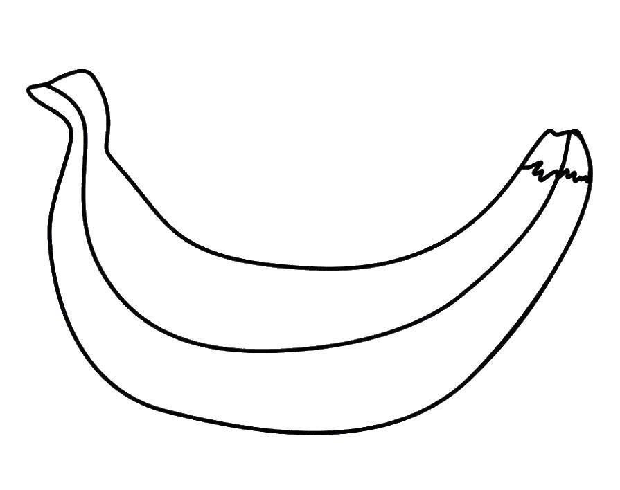 Раскраска банан Скачать поросенок, волк.  Распечатать ,Животные,