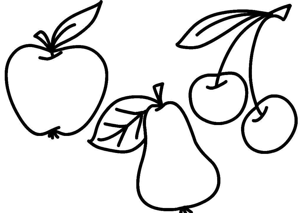 Раскраска фрукты Скачать ,Скулби, робокар,.  Распечатать