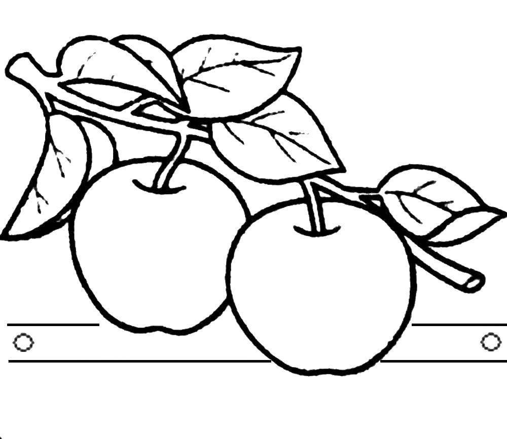Раскраска яблоко Скачать Дети, игры, отдых, природа, воздушные шарики.  Распечатать ,дети,