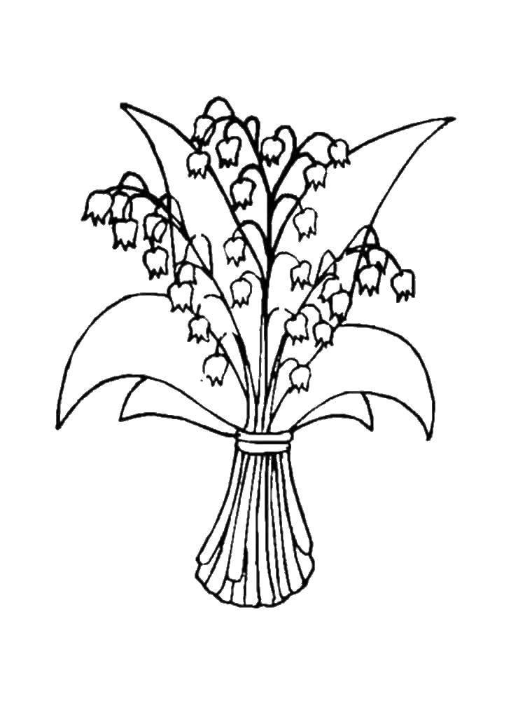 Раскраска колокольчик Скачать ,колокольчик, цветы,.  Распечатать