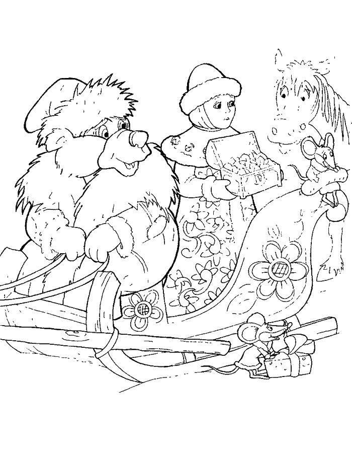 раскраски про раскраска сказка про морозко сказки