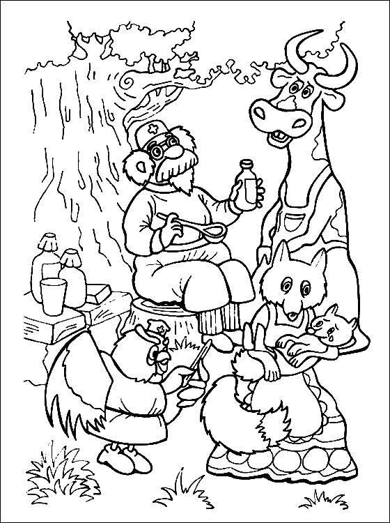 раскраски доктор раскраска доктор айболит лечит животных