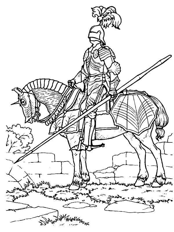 Название: Раскраска Рыцарь в доспехах. Категория: крестоносцы. Теги: рыцарь, доспехи.