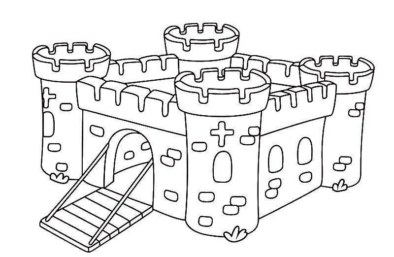 раскраски раскраска крепость крепость раскраски детские