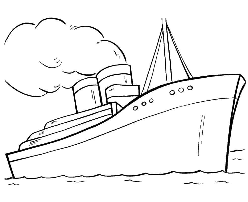 Раскраска корабль Скачать ,Трансформеры,.  Распечатать