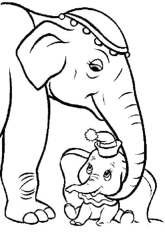 Раскраска Мама слоненка дамбо Скачать Слон, Дамбо.  Распечатать ,дамбо,