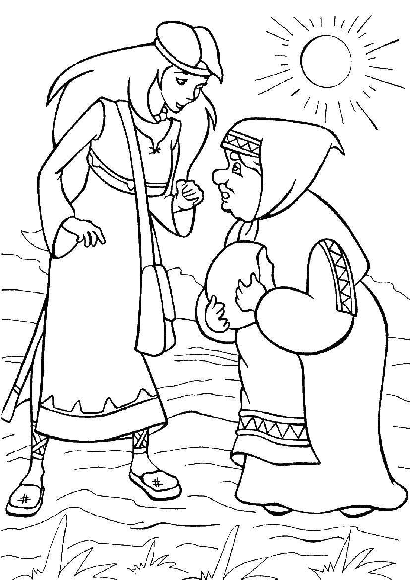Раскраска три богатыря Скачать испанский язык, раскраска, краб.  Распечатать ,испанский язык,