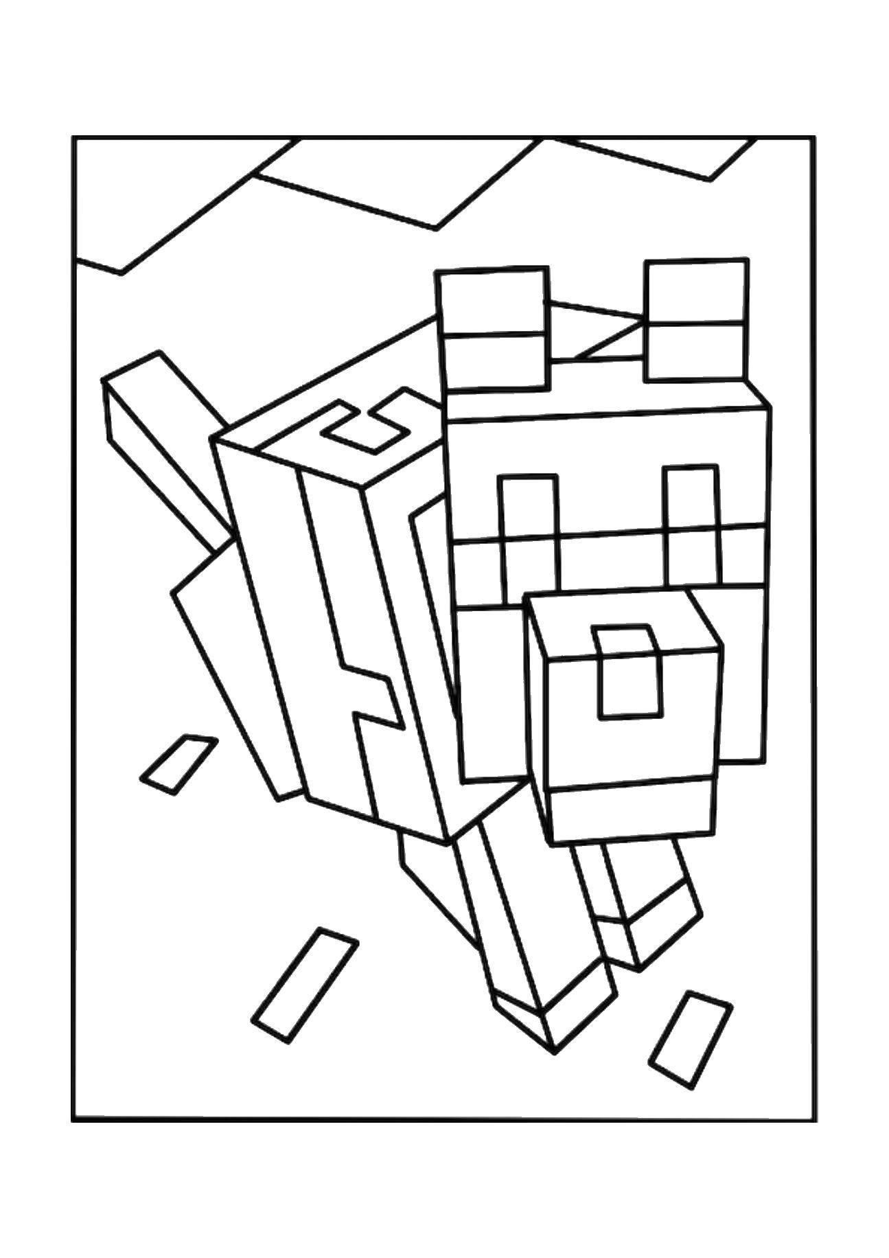 Раскраски Майнкрафт, Страница:13.