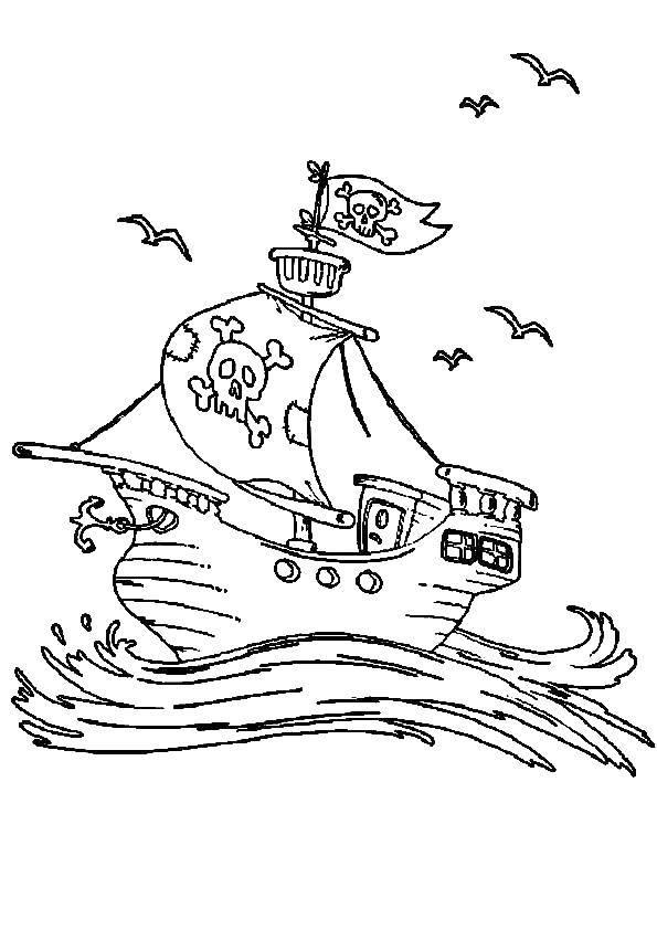 раскраски корабль раскраска пиратский корабль корабли