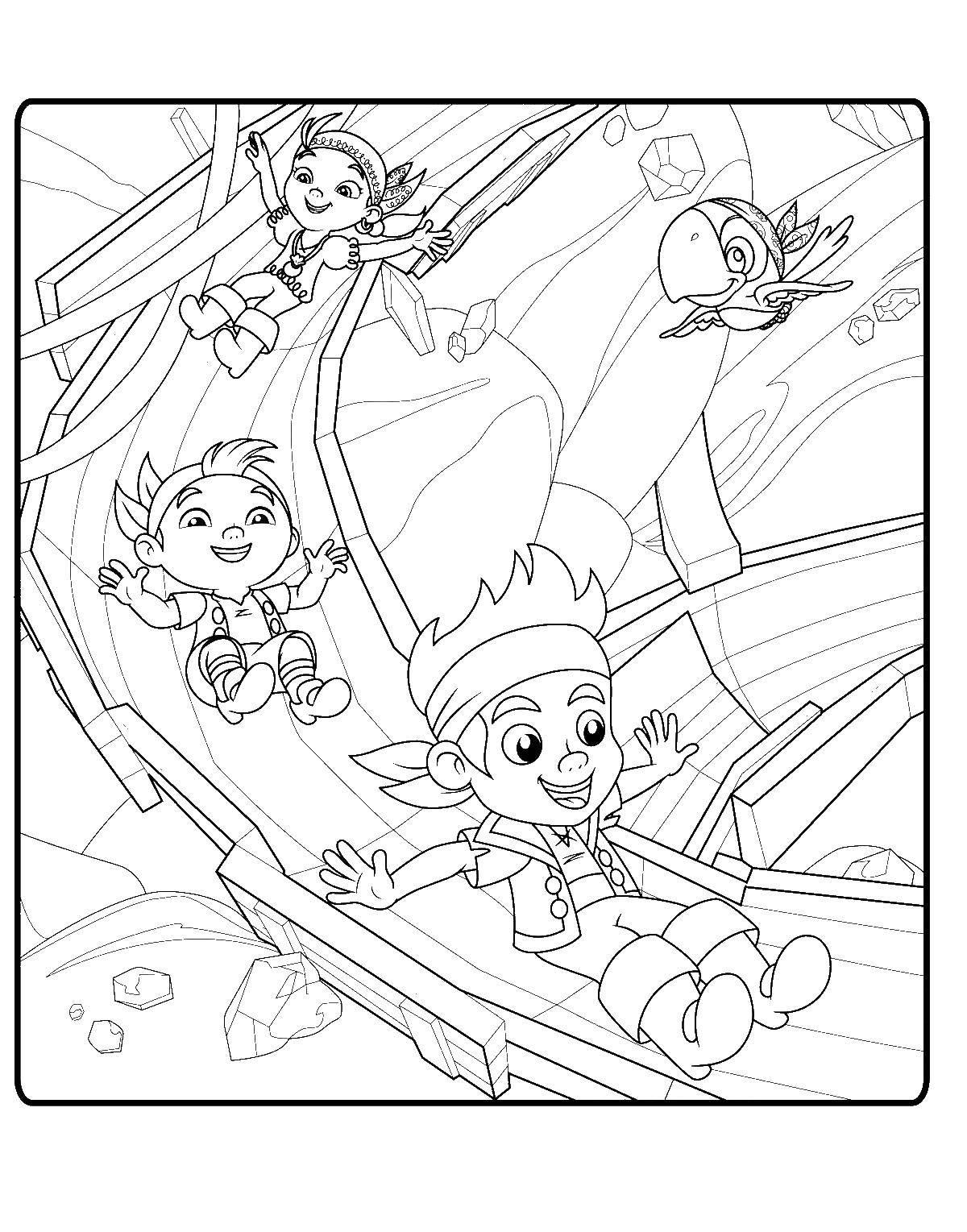 Раскраска Джейк и пираты Нетландии Скачать Ягоды, вишня.  Распечатать ,ягоды,