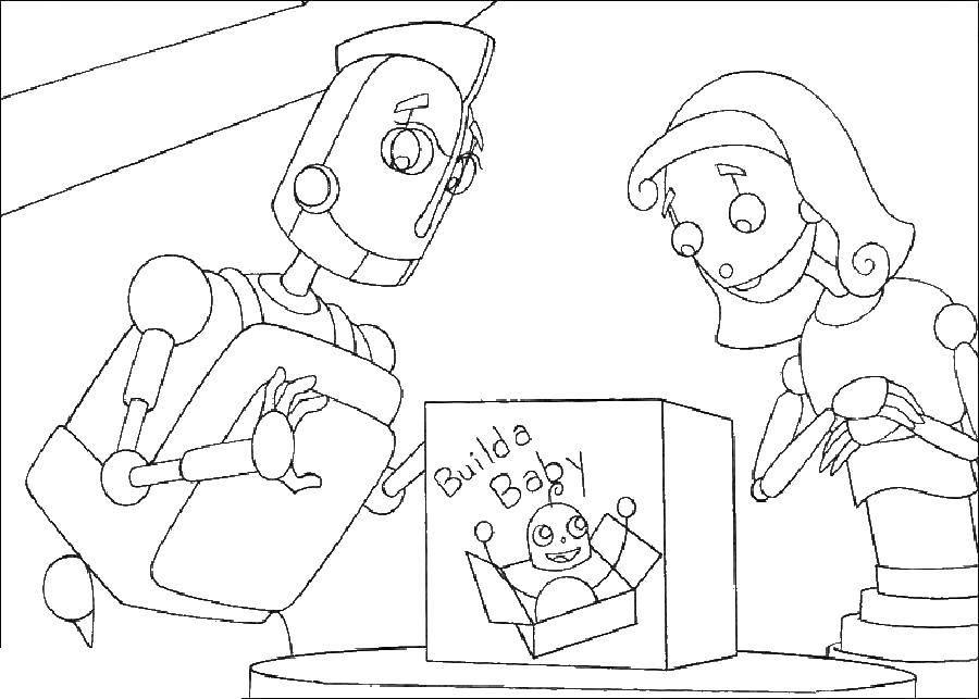 Раскраска роботы Скачать принцессы, диснея.  Распечатать ,принцесса,