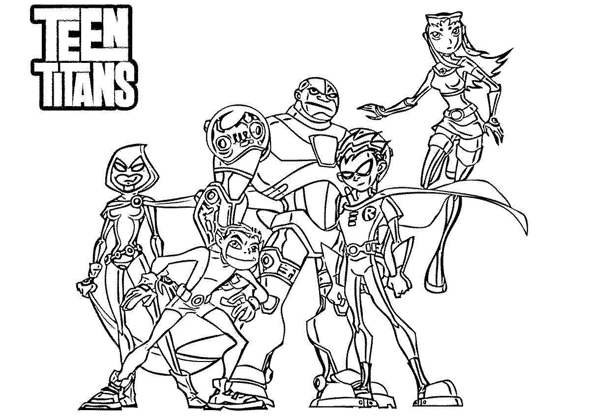 Раскраска Юные титаны Скачать Робин, юные титаны, Старфайр.  Распечатать ,юные титаны,