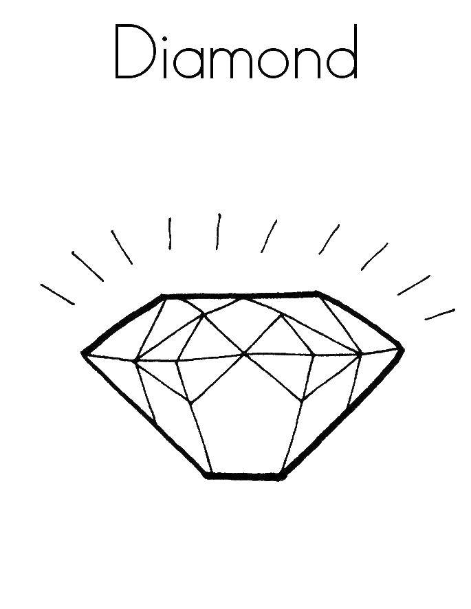 раскраски раскраска бриллиант кольцо раскраски кольцо