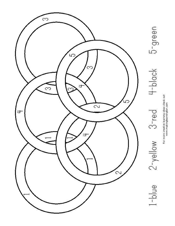 Раскраска Олимпийские кольца Скачать кольца, кольцо.  Распечатать ,кольцо,