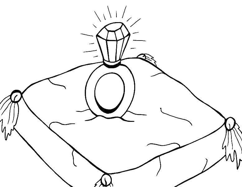 раскраски бриллиант раскраска кольцо с бриллиантом кольцо