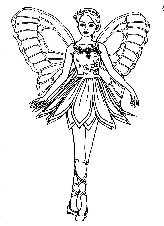 раскраски фея раскраска барби фея фея