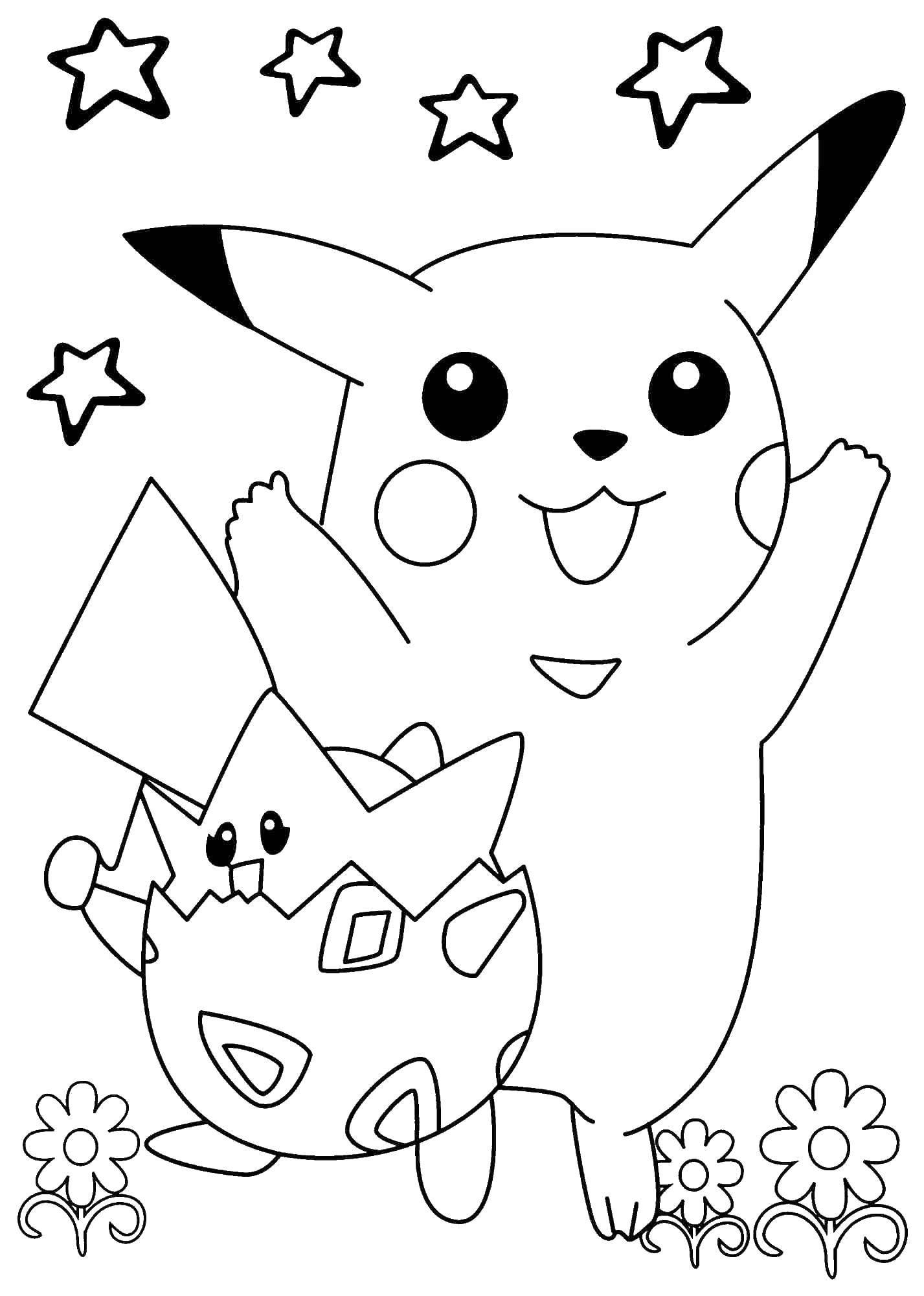 Раскраска Покемон пикачу Скачать Покемон.  Распечатать ,Покемоны,