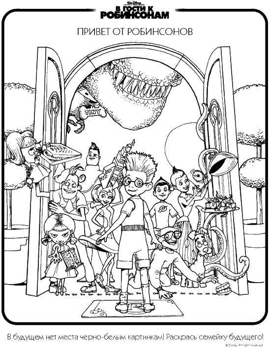Раскраска В гости к робинсонам Скачать ,мультфильмы, в гости к робинсонам,.  Распечатать