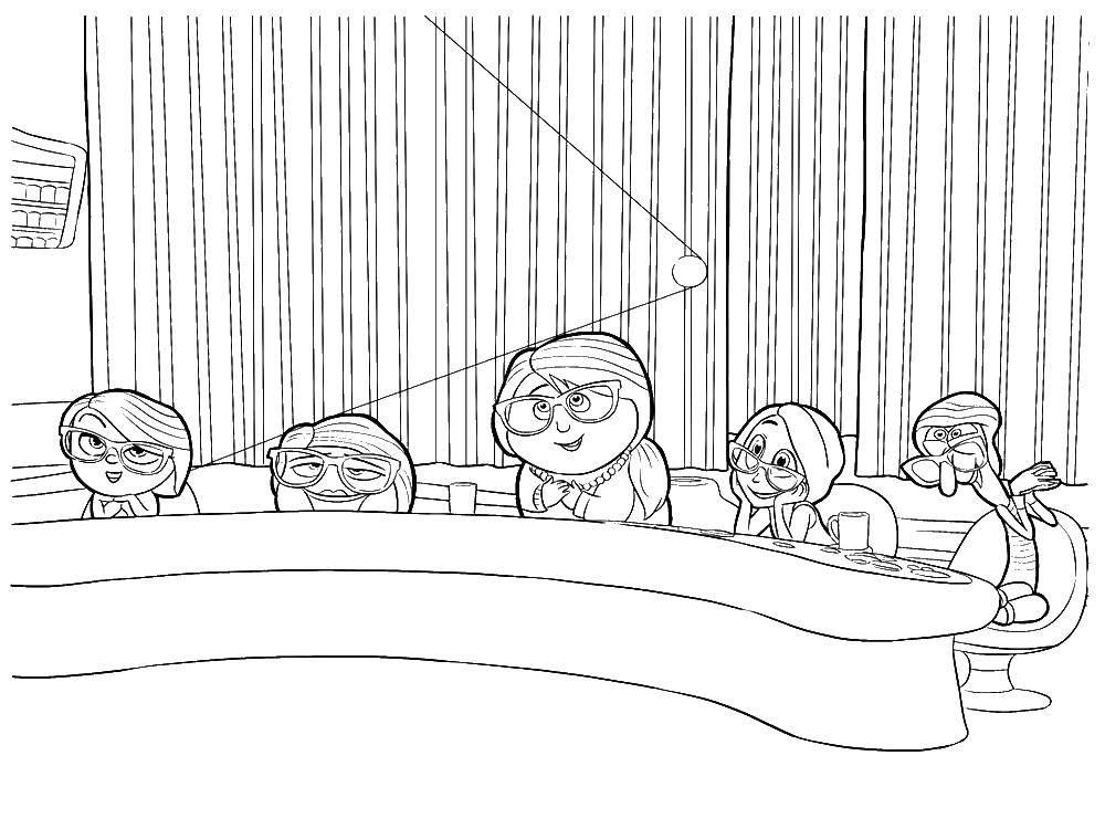 Раскраска Мультфильм головоломка Скачать Головоломка, мультфильм.  Распечатать ,головоломка,
