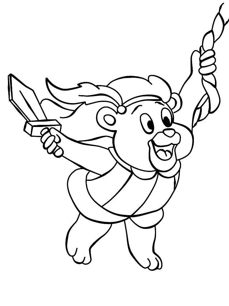 Раскраска Мишка гамми Скачать ,Персонаж из мультфильма,.  Распечатать