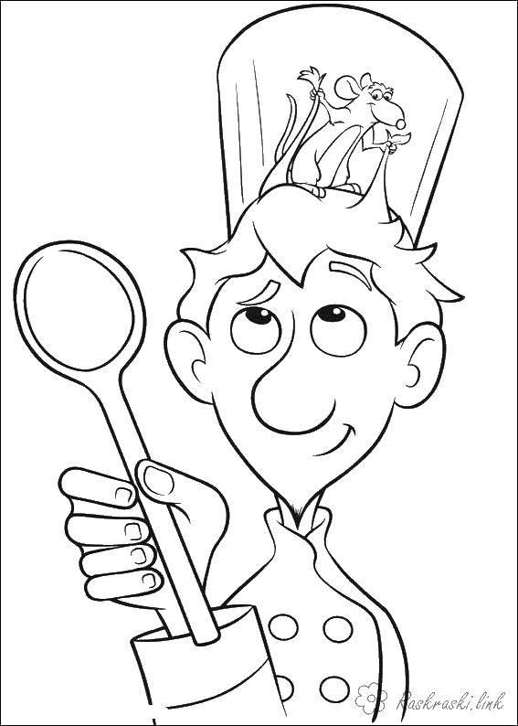 Раскраска Мультфильм рататуй Скачать Рататуй, мультфильмы, мышка.  Распечатать ,рататуй,