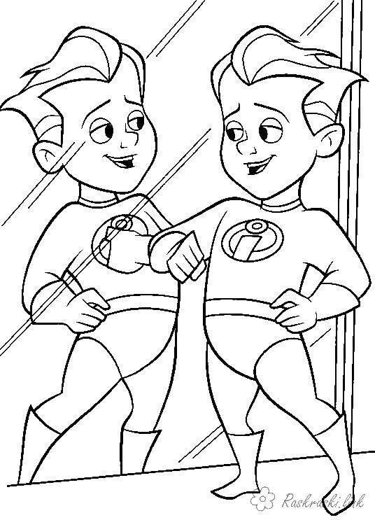 Раскраска Суперсемейка Скачать мультфильмы, Суперсемейка.  Распечатать ,мультфильмы,