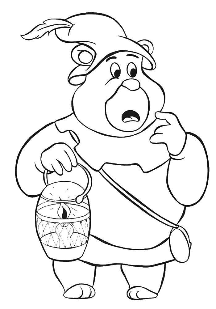 Раскраска Мишка гамми Скачать ,мультфильмы, Мишки Гамми,.  Распечатать