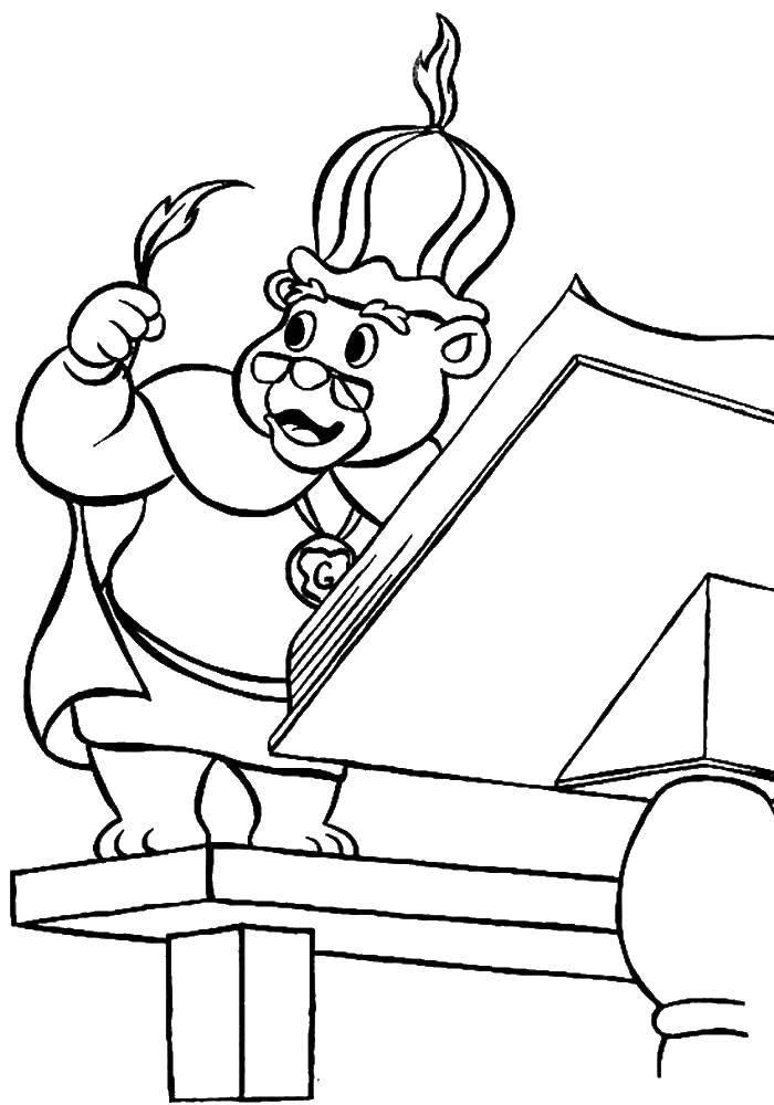 Раскраска Мультфильм Скачать ,Персонаж из мультфильма,.  Распечатать