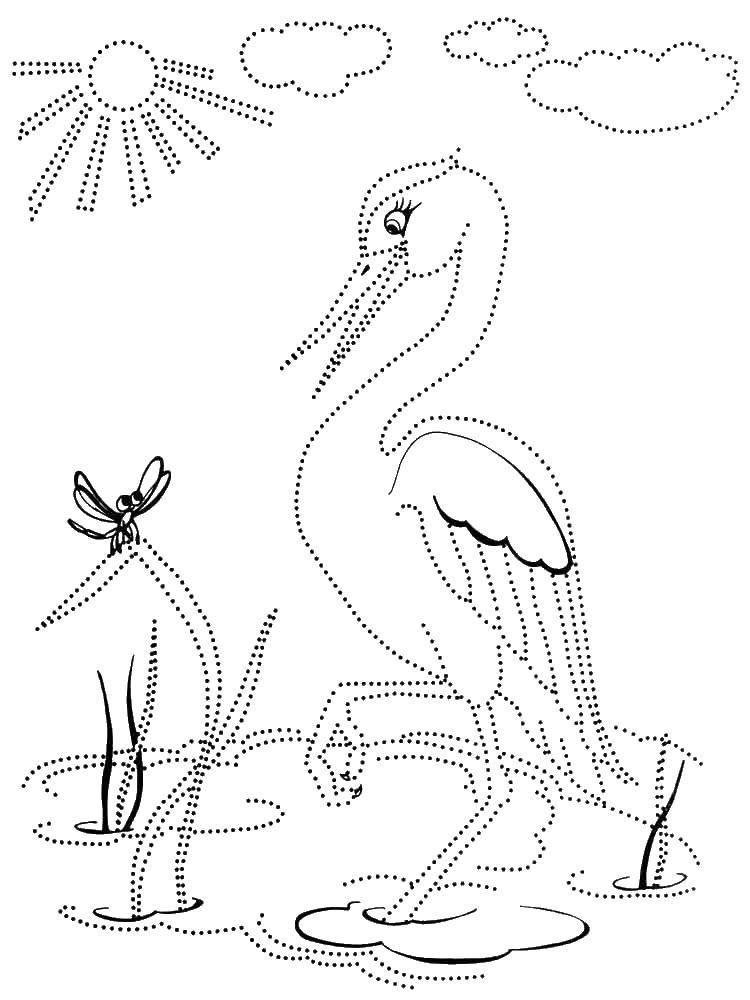 Раскраска Лиса и журавль Скачать ,Поиск предметов,.  Распечатать