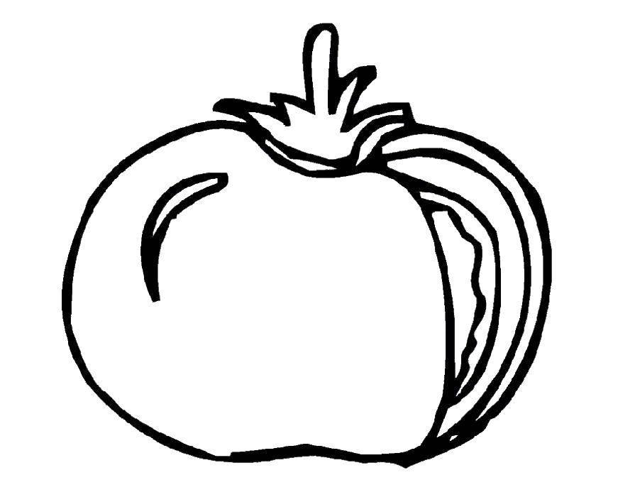 Название: Раскраска Помидор. Категория: помидор. Теги: овощи, помидоры.