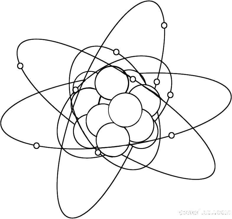 Раскраска Атомы Скачать ,атомы, молекулы,.  Распечатать