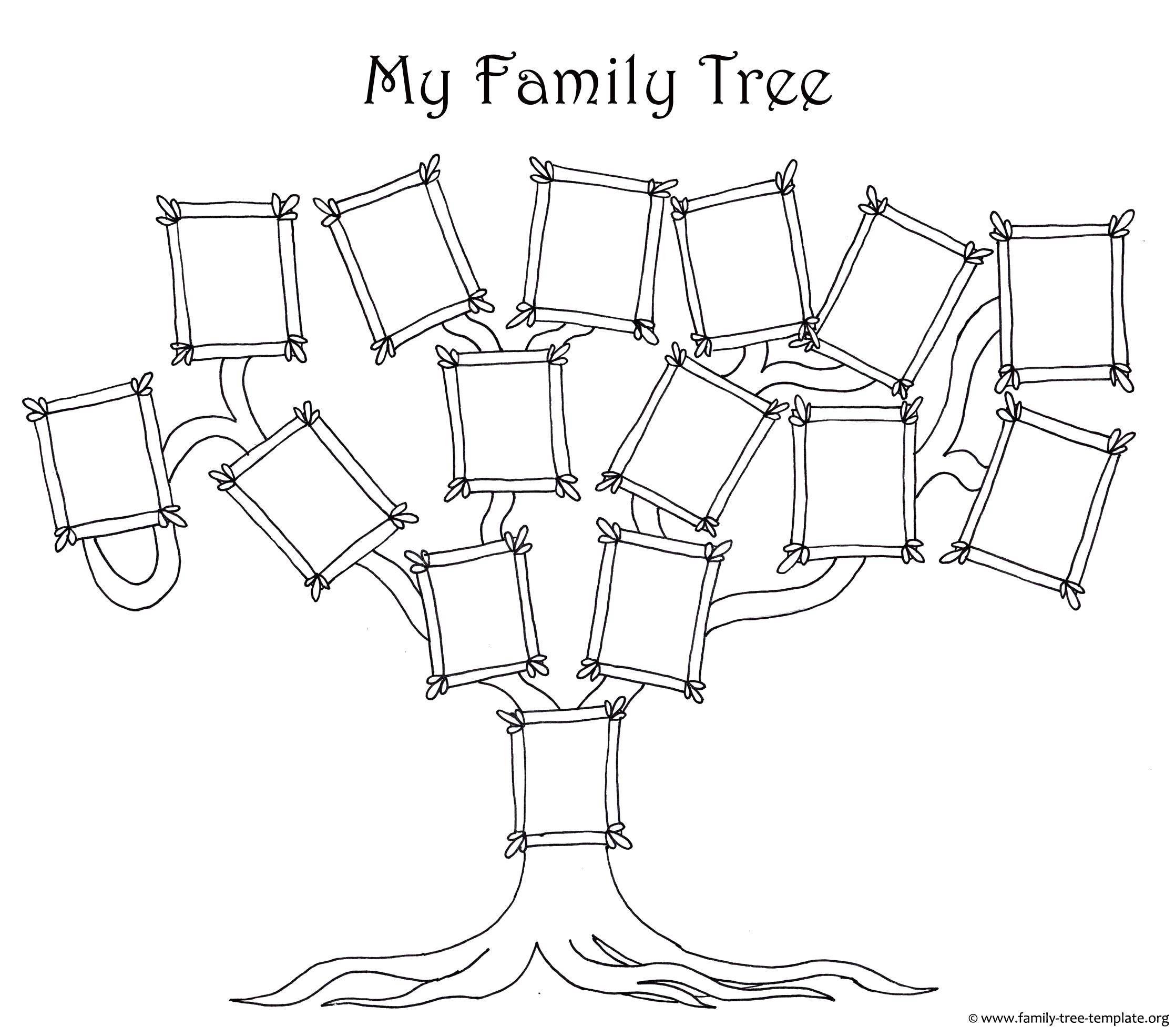 Раскраска Моё семейное древо Скачать Семья, родители, дети, счастье.  Распечатать ,Члены семьи,