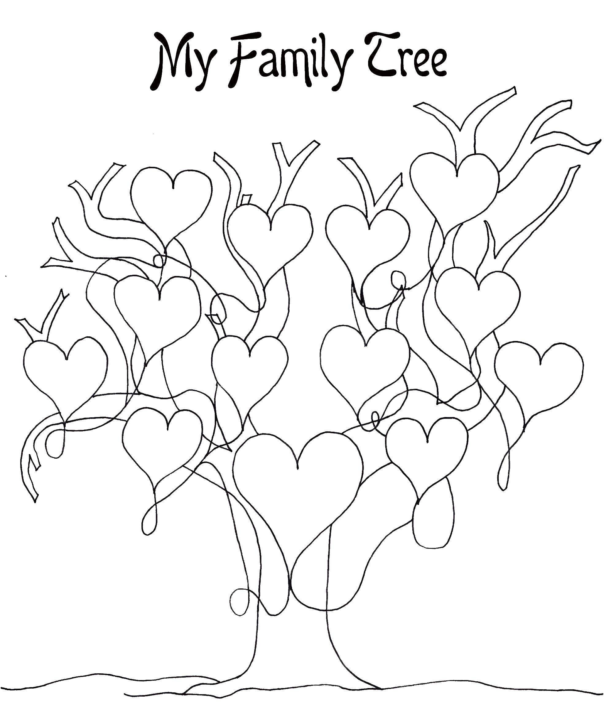 Coloring family tree category family tree tags family tree hearts